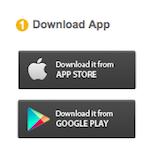 アプリダウンロードボタンの写真